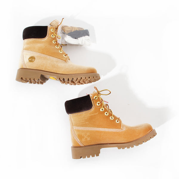 Timberland Off White Velvet Boot