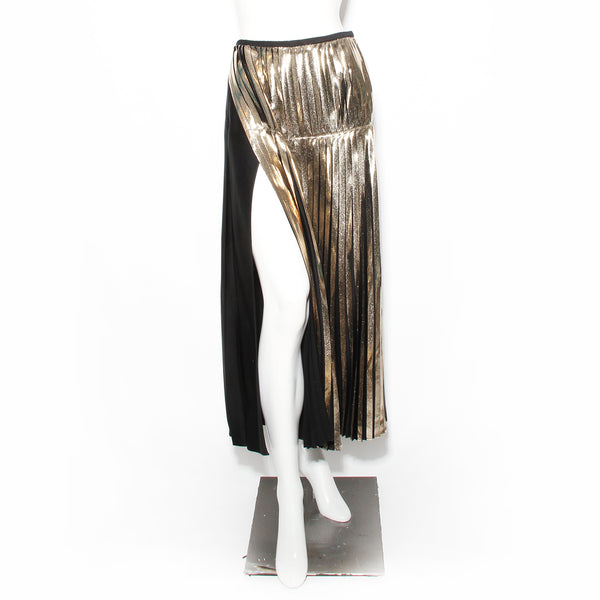 McCartney Gold Pleated Skirt