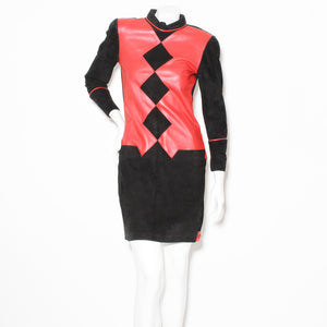 Nini Policappelli Leather and Suede Dress