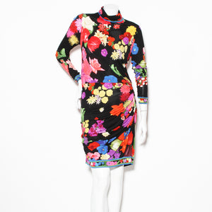 Leonard Floral Rouched Longsleeve Dress