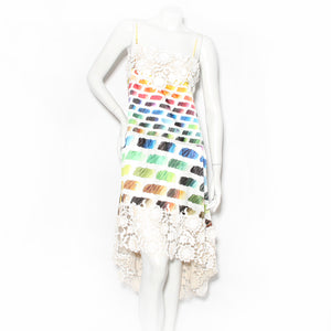 Chanel Lace Rainbow Dress