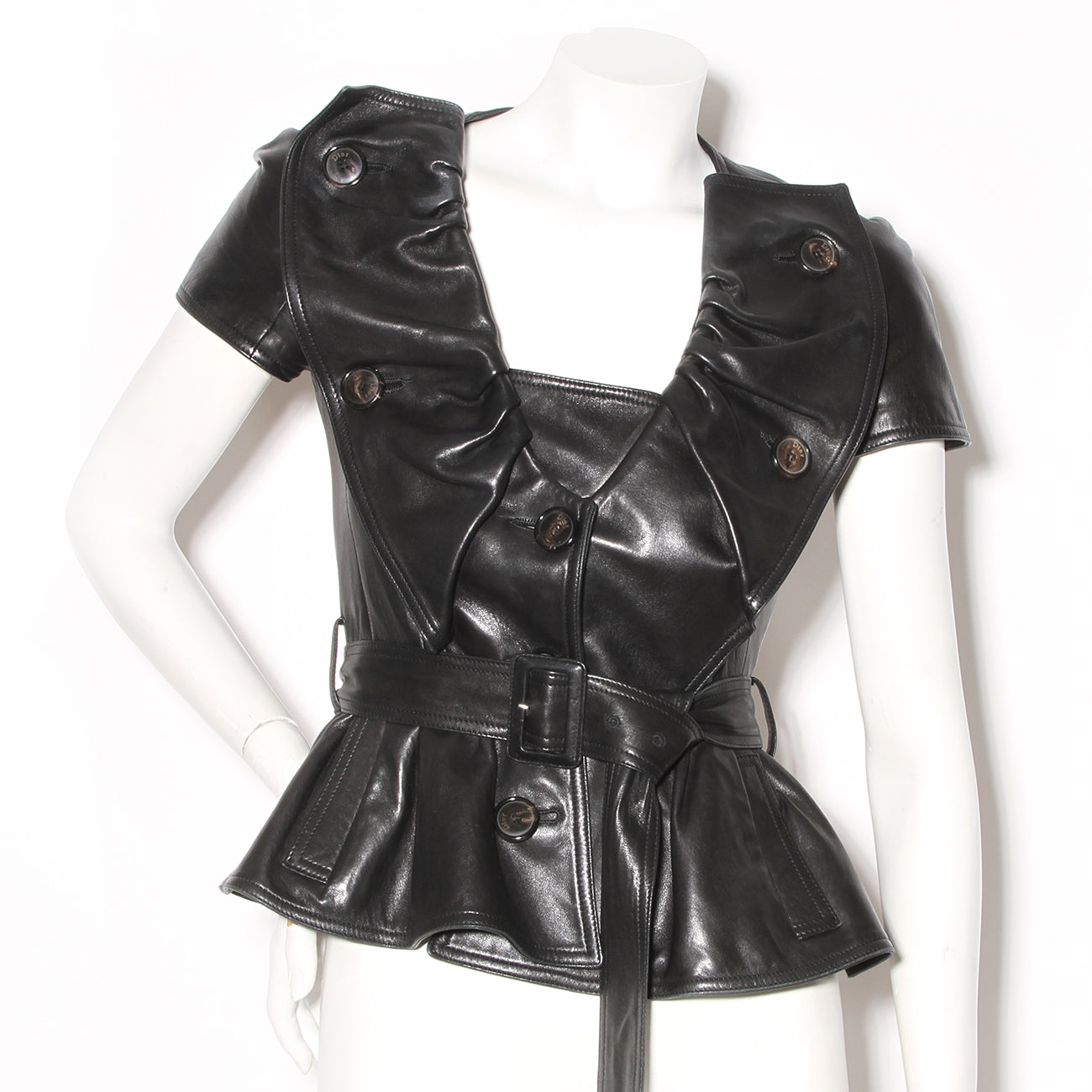 Dior Leather Blouse