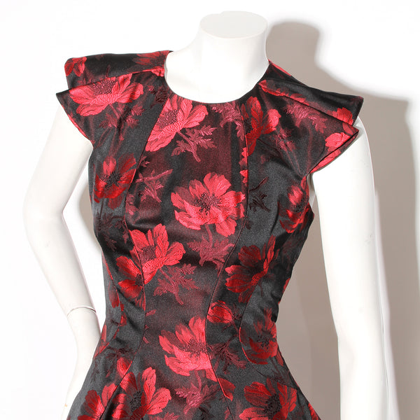 McQueen Brocade Floral Dress