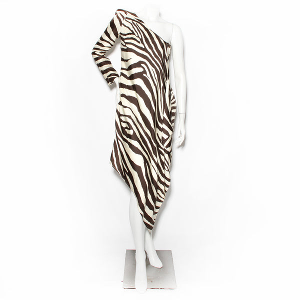 Mugler Zebra Print Dress