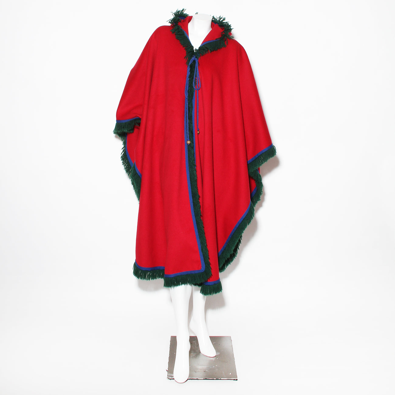 YSL Hooded Wool Cape
