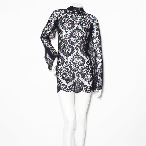 Dolce & Gabbana Lace and Suede Tie Dress
