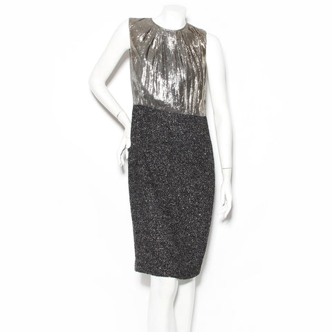 Kors Lame and Tweed Shift Dress