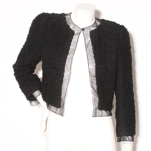 Chanel Ruched Tulle Jacket