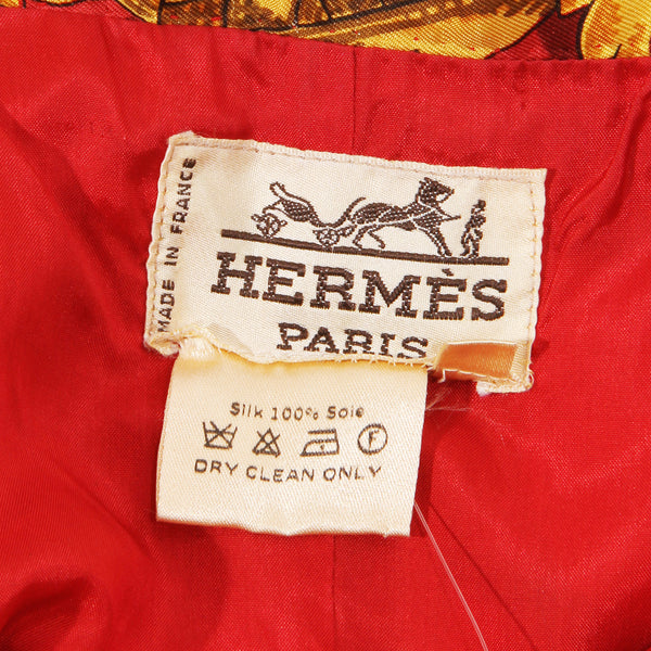Hermes Silk Skirt