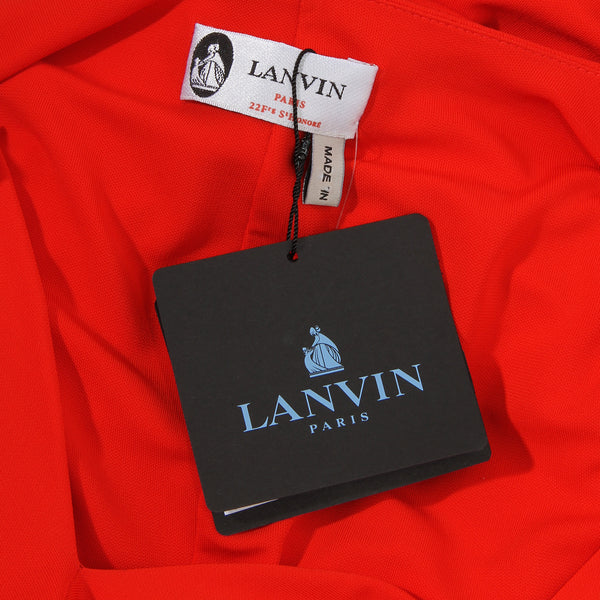 Lanvin Knot Drape Dress