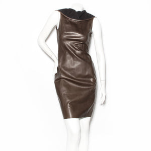 Armani Leather Shift Dress