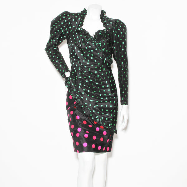 Ungaro Polka dot Long Sleeve Dress