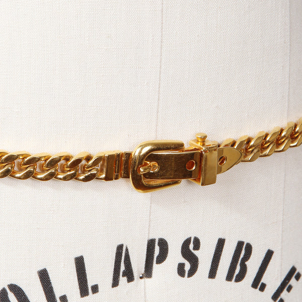 Gold Chainlink Belt with Buckle