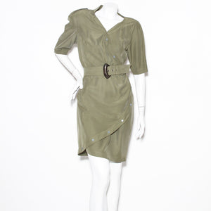 Mugler Vintage Silk Wrap Dress