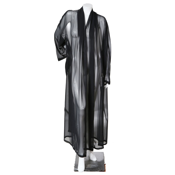 Sheer Black Robe