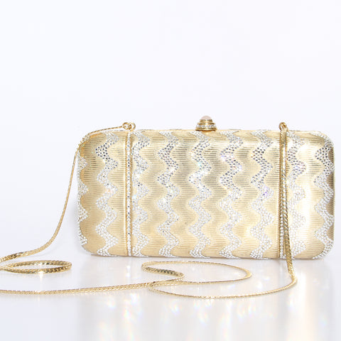 Judith Leiber Crystal Box Zigzag Bag