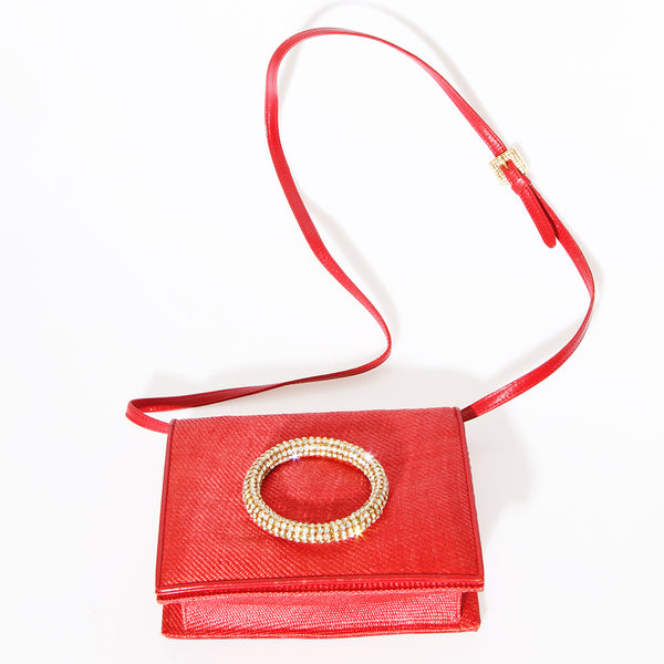 Valentino Vintage Crystal Ring Bag