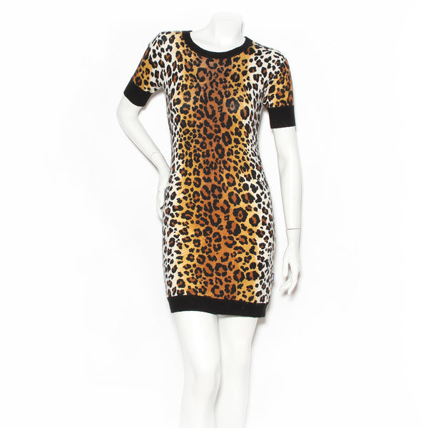 Moschino Leopard Print Sweater Dress