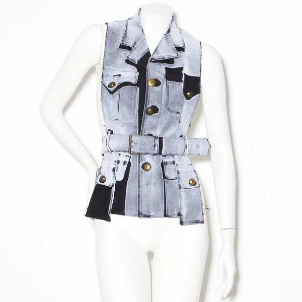 Margiela Deconstructed Belted Vest