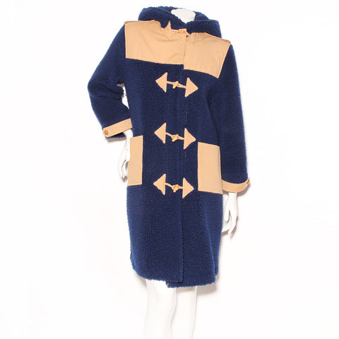 Courrēges Teddy Fleece Hooded Coat with Toggle Closures