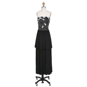 Vintage Beaded and Pleated Dress by Karl Lagerfeld
