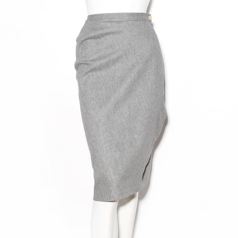 Vivienne Westwood Grey Wool Gathered Skirt