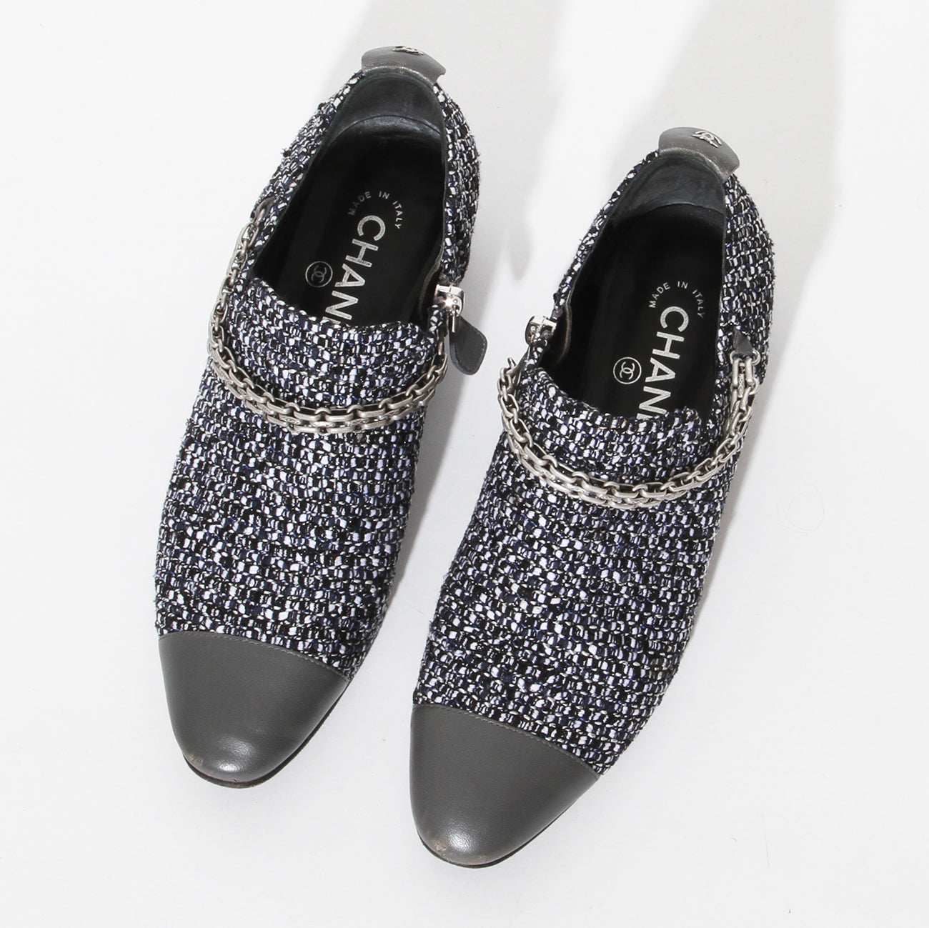 Chanel Tweed Chain Loafer