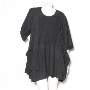 Comme des Garćons Black Patchwork Shift Dress