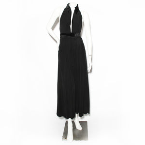 Ossie Clark Black Halterneck Dress
