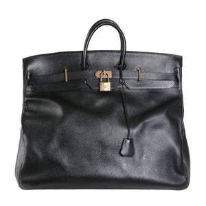 7a4a8fb0e737 55cm Black Leather HAC Bag, 1993