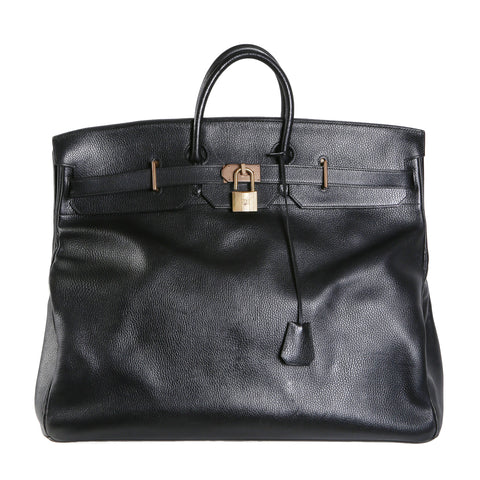 55cm Black Leather HAC Bag, 1993