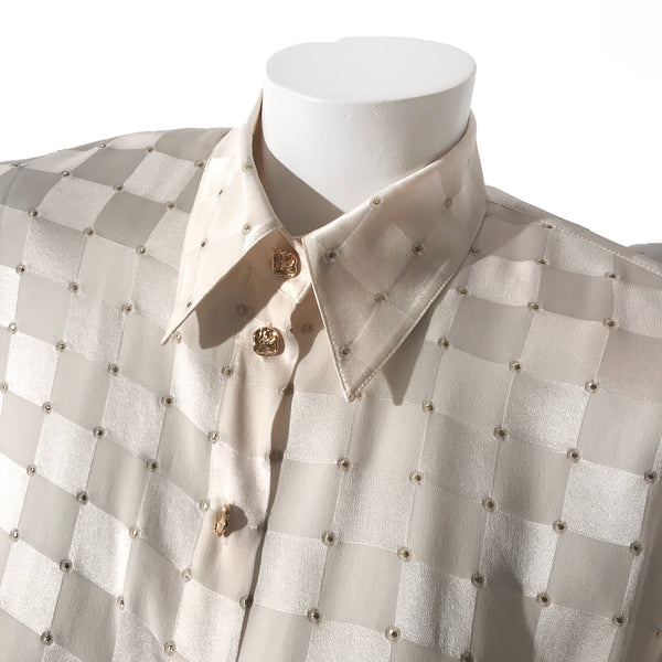 Escada Gold Polka Dot Blouse