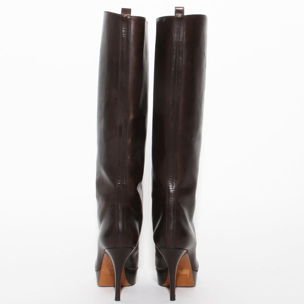 YSL Lace Up Leather Boot
