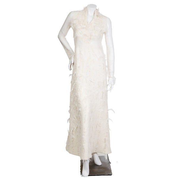 Nuno Felted Dress with Feather Fringe