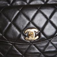 Black Quilted Leather Shoulder Tote, 1996