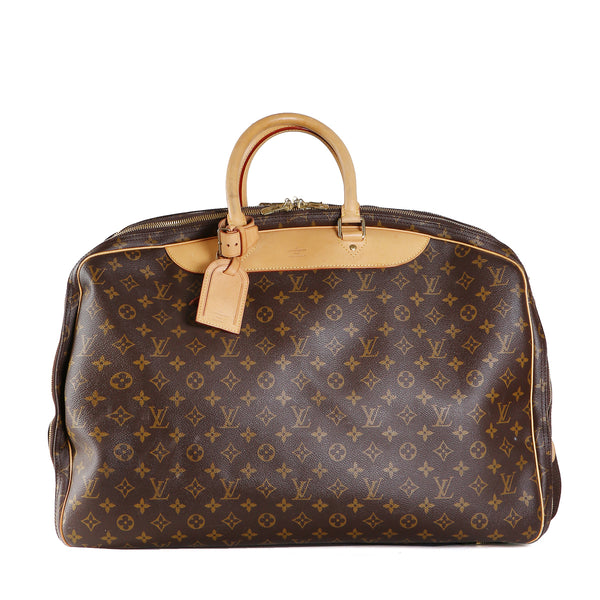 Monogram Leather Large Travel Bag