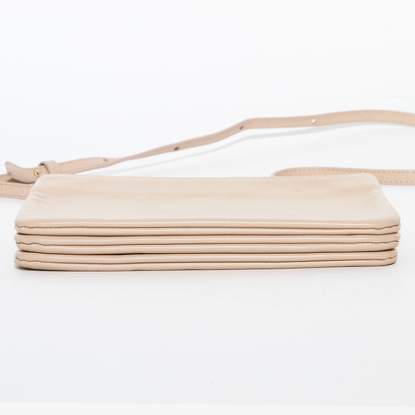 Celine Beige Leather Crossbody Trio Bag