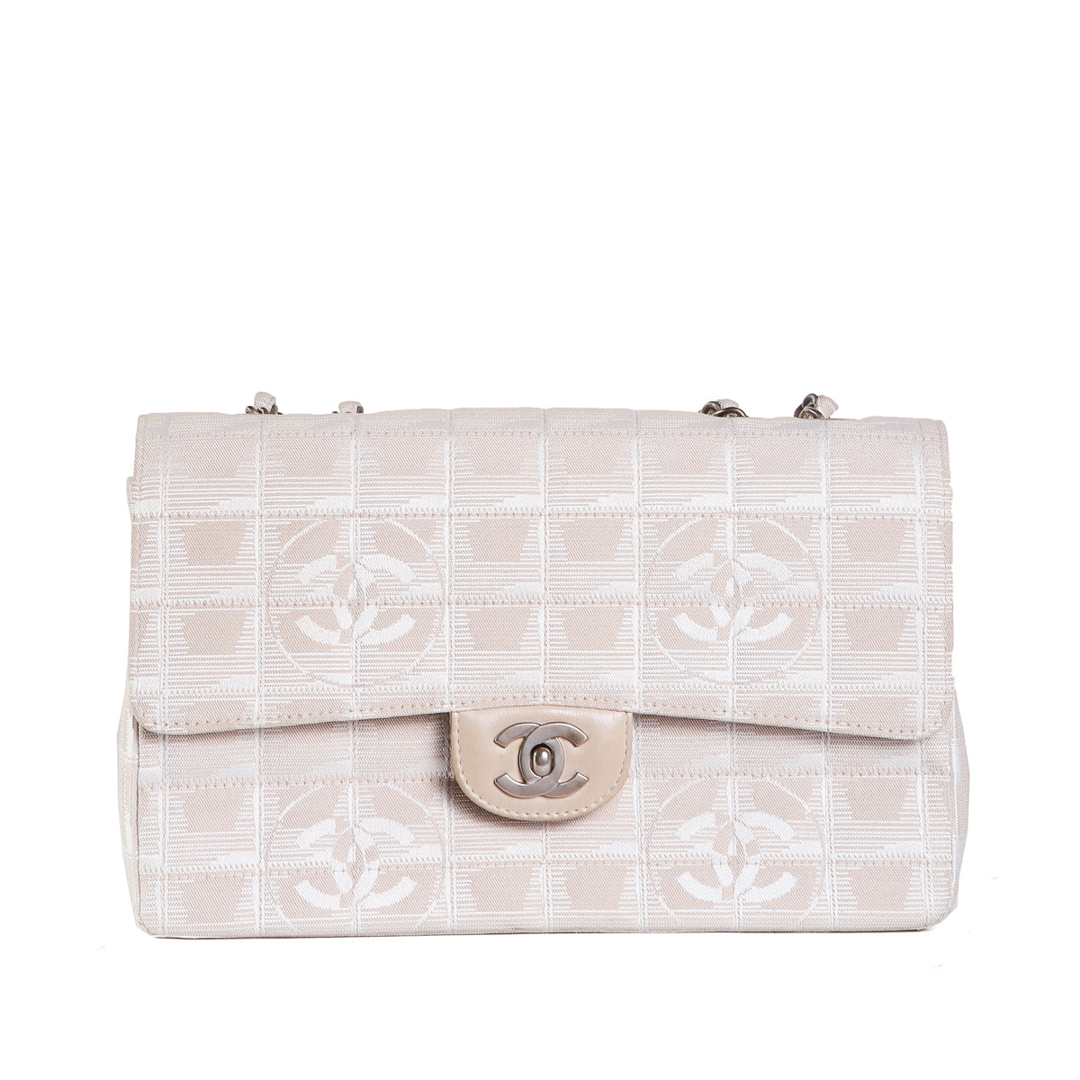 Quilted Nylon Shoulder Bag with Subtle Graphic Logo Print