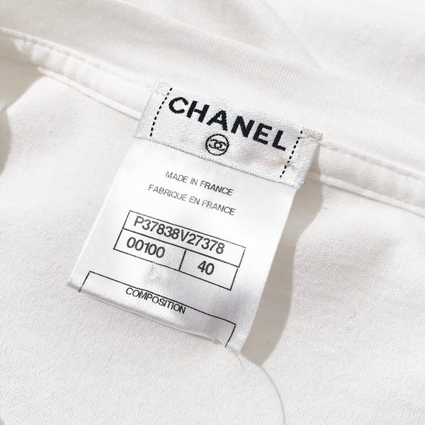 Chanel Sequin Brooch Tee-shirt