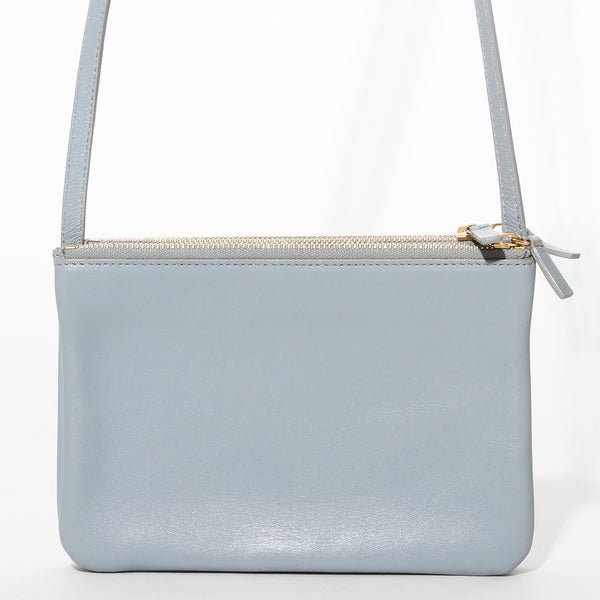 Celine Grey Leather Crossbody Trio Bag