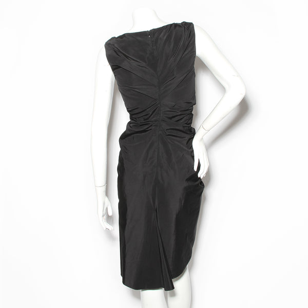 Christian Dior Black Ruched Dress