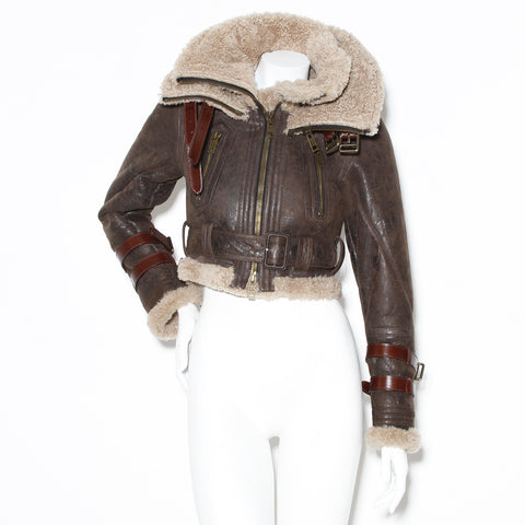 Burberry Aviator Shearling Jacket