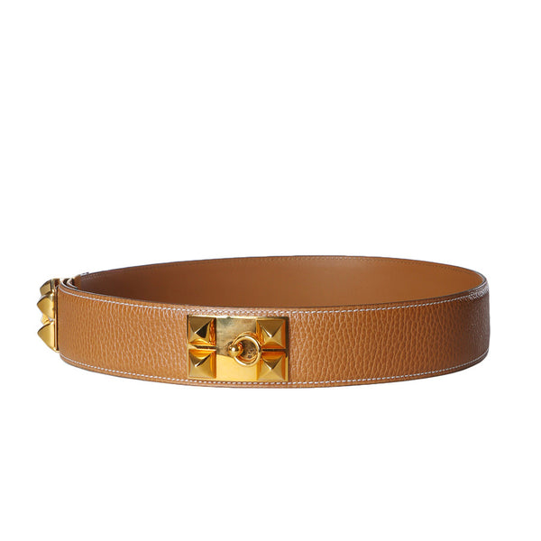 Natural Togo Leather Belt, 1995
