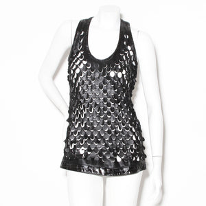 Givenchy Leather Circle Tank