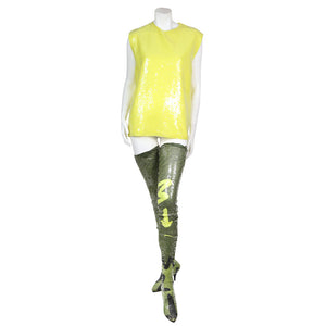 Translucent Paillette Adorned Sleeveless Top with Boots, 1988