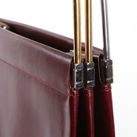 Deep Red Leather Trinity Tote