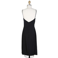 Dress with Crystal Straps circa 1980s