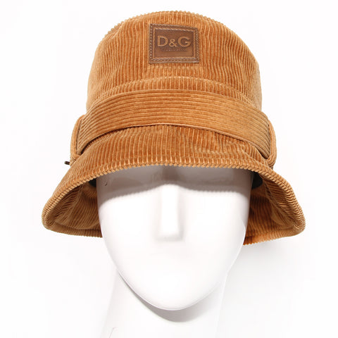 D&G Tan Corduroy Bucket Hat