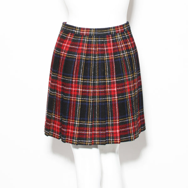 Saint Laurent Plaid Mini Skirt
