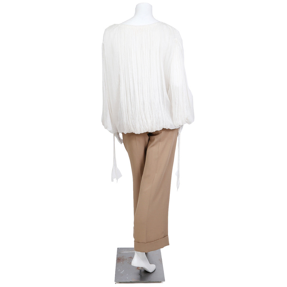 Mousseline Peasent Blouse and Pants Set